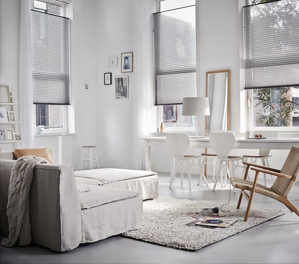 Plissé gordijnen op maat - Tissus Maison Antwerpen